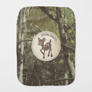 Camouflage Baby Deer Burp Cloth