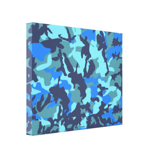 Camouflage Blue Canvas Print