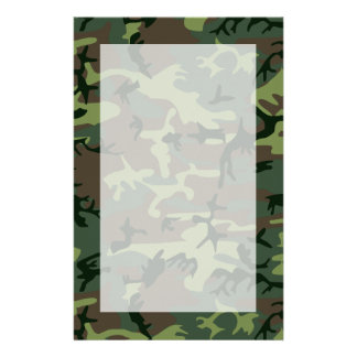 Camouflage Camo Green Brown Pattern Customized Stationery