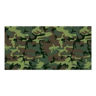 Camouflage Camo Green Brown Pattern Photo Cards