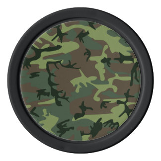 Camouflage Camo Green Brown Pattern Poker Chips