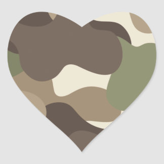 Camouflage Camo Heart Sticker