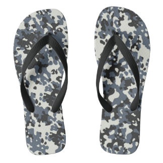 Camouflage Camo Police Grey Black White Thongs