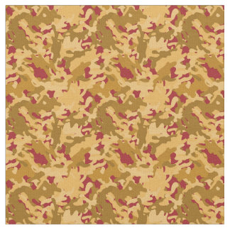 Camouflage Camo Print Desert Orange Red Tan Fabric