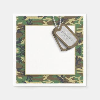 Camouflage / Camo Theme Birthday Party Disposable Serviette
