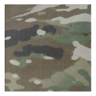 Camouflage Camo uniform fatigues office Acrylic Print