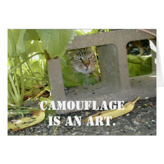 Camouflage Cat Card