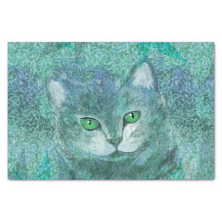 Camouflage Cat Nature Garden Tissue Paper