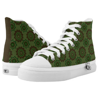 Camouflage Cognitive Hi Tops Printed Shoes
