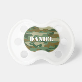 Camouflage color pattern design baby pacifier