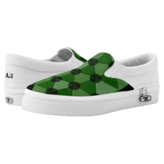 Camouflage Colours Geometric Slip-On Shoes