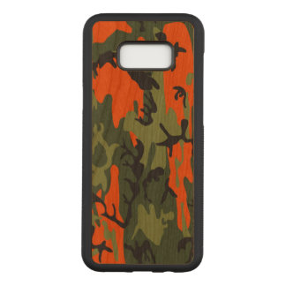 Camouflage Como Army Military Print Orange Carved Samsung Galaxy S8+ Case