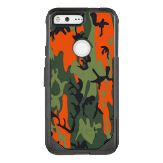 Camouflage Como Army Military Print Orange OtterBox Commuter Google Pixel Case