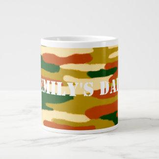 Camouflage Custom Name Large Coffee Mug