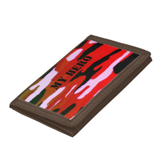 Camouflage Custom Name Tri-fold Wallet