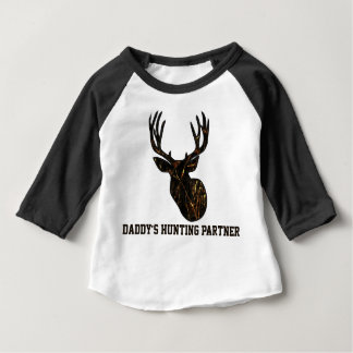 Camouflage Daddy's Hunting Partner Baby Shirt