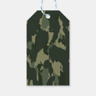 Camouflage Dark Green Gray Beige Camo Design Gift Tags