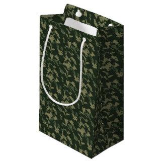 Camouflage Dark Green Gray Beige Camo Design Small Gift Bag