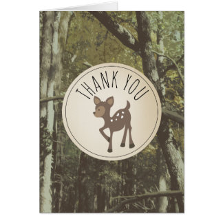 Camouflage Deer Baby Shower Thank You Card