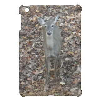 Camouflage Deer in fall leaves Cover For The iPad Mini