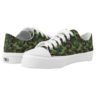 Camouflage Design Printed Shoes