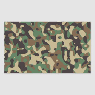 Camouflage Design Rectangular Sticker