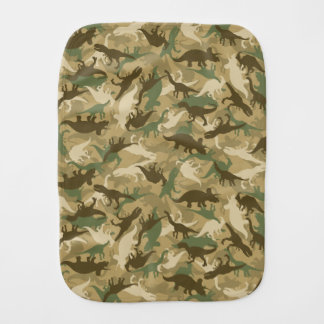 Camouflage Dinosaur Burp Cloth
