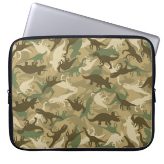 Camouflage Dinosaur Print Neoprene Laptop Sleeve