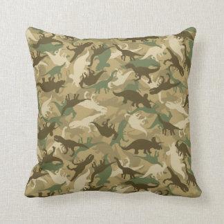 Camouflage Dinosaur Print Pillow