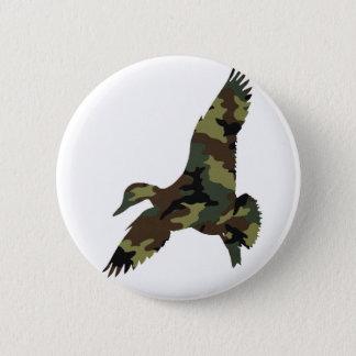 Camouflage Duck 6 Cm Round Badge