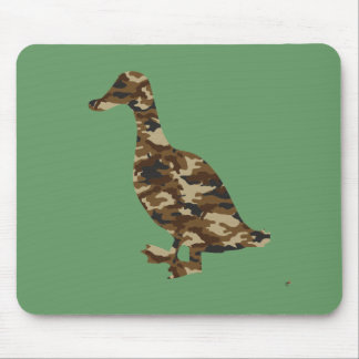 Camouflage Duck Silhouette Mouse Pad