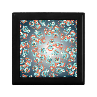 Camouflage Flowers Design Small Square Gift Box