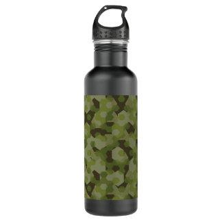 Camouflage geometric hexagon 710 ml water bottle