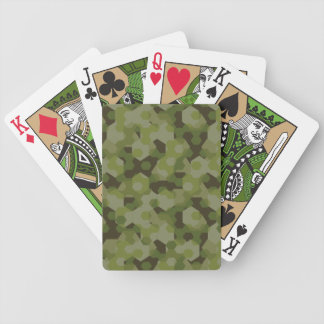 Camouflage geometric hexagon bicycle playing cards