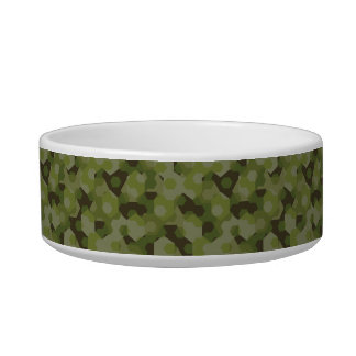 Camouflage geometric hexagon bowl