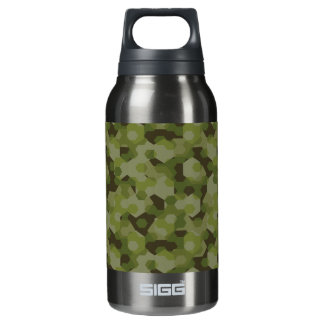 Camouflage geometric hexagon insulated water bottle