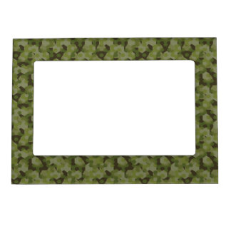 Camouflage geometric hexagon magnetic picture frame