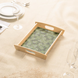 Camouflage geometric hexagon serving tray