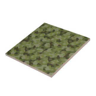 Camouflage geometric hexagon tile