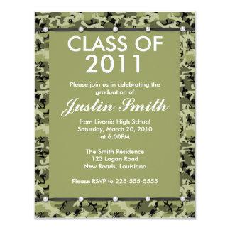 Camouflage Graduation 11 Cm X 14 Cm Invitation Card