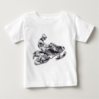 Camouflage Gray Snowmobiler Baby T-Shirt
