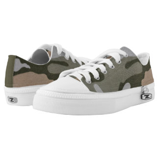 Camouflage Green and Tan Sneaker