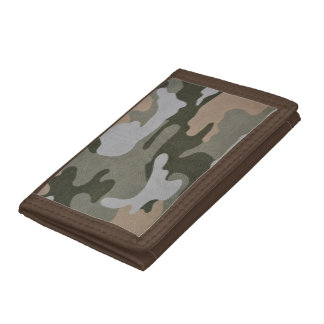 Camouflage Green and Tan Wallet