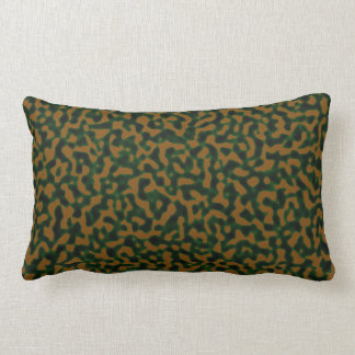 Camouflage Green Brown Lumbar Cushion
