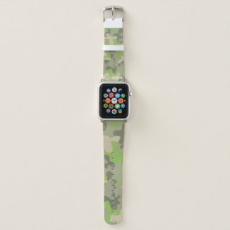 Camouflage Green Pattern Military Apple Watch Band