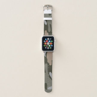 Camouflage Green Tan Apple Watch Band