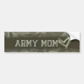 Camouflage Grunge Army Mom Love Bumper Sticker