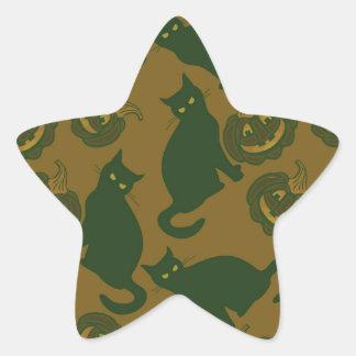 Camouflage Halloween Star Sticker