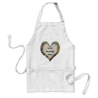 Camouflage Heart Adult Apron
