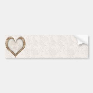 ♥ Camouflage Heart ♥ Car Bumper Sticker